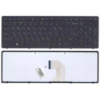 Клавиатура Lenovo Z500, P500 с черной рамкой, черная, 12058 (A-3-4)