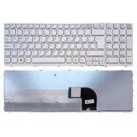 Клавиатура для ноутбука Sony SVE15, SVE17 белая (белая рамка) RU, 11576 004345 (B-2-7)