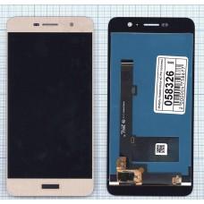 Модуль Huawei Honor 4C Pro (TIT-L01), Y6 Pro в сборе (матрица + тачскрин) золотой