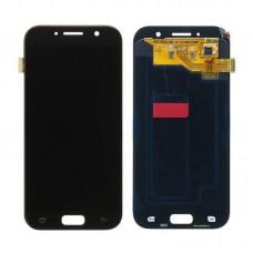 Модуль Samsung A520F (A5 2017) черный OLED (матрица + тачскрин)