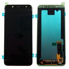 Модуль Samsung A605F (A6 Plus 2018) черный OLED (матрица + тачскрин)