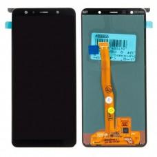 Модуль Samsung A750F (A7 2018) черный OLED (матрица + тачскрин)