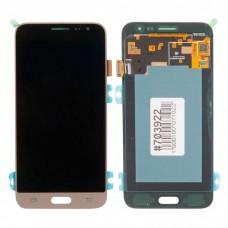 Модуль Samsung Galaxy 320F (J3 2016) золотой OLED (матрица + тачскрин)