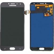 Модуль Samsung J400F (J4 2018) черный OLED (матрица + тачскрин)