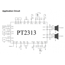 Купить Аудио процессор PT2313L в Калинковичах